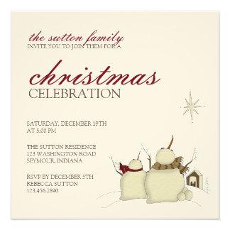 Snowmen Star · Christmas Invitation