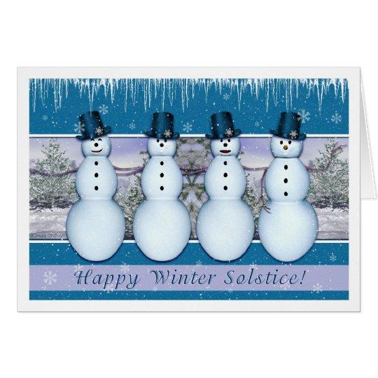 Snowmen - Winter Solstice/Yule Card