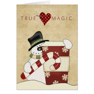 Snowmen with coffee card