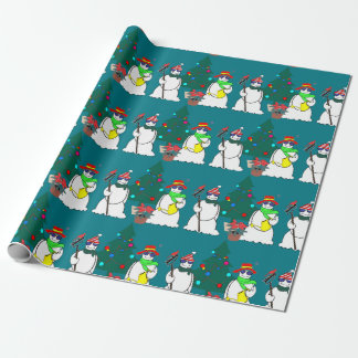 snowmen wrapping paper 15
