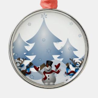 Snowmens & Reindeers Christmas Ornament