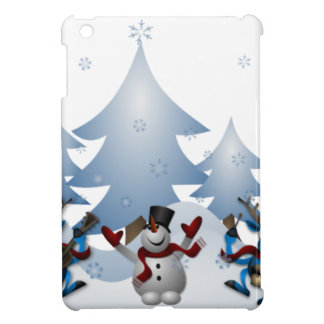Snowmens & Reindeers iPad Mini Cover