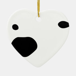 Snowmo Ceramic Heart Decoration