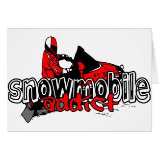 Snowmobile Addict Greeting Card