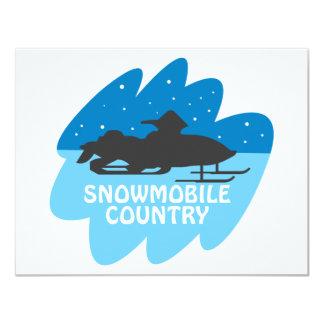 Snowmobile Country 11 Cm X 14 Cm Invitation Card