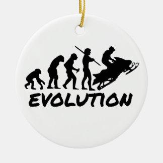 Snowmobile Evolution Christmas Ornament