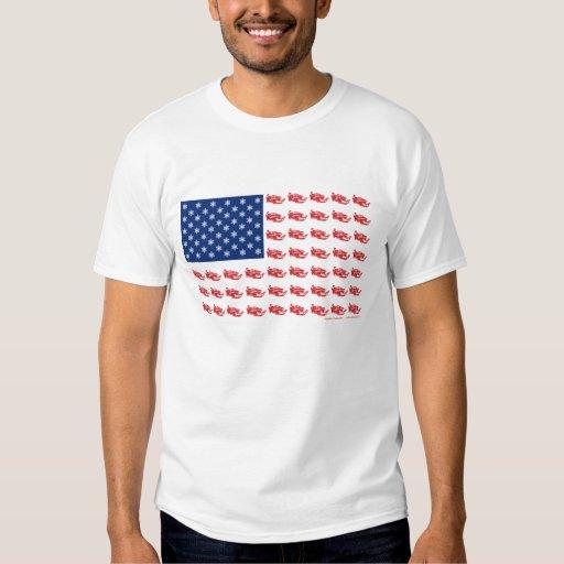 Snowmobile Flag T-shirts