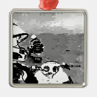 Snowmobile Freedom Christmas Ornament
