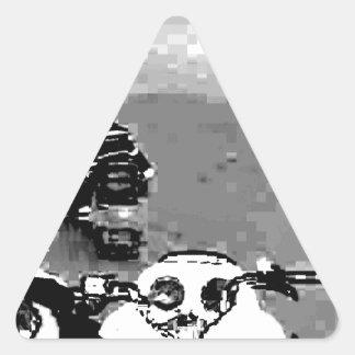 Snowmobile Freedom Triangle Sticker