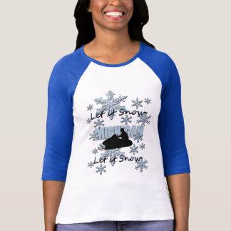 Snowmobile Let it Snow Michigan RaglanT-shirt T-Shirt