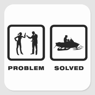 Snowmobile Lover Stickers