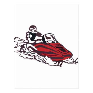 Snowmobile Postcard