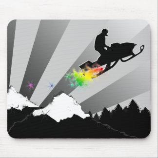 snowmobile. powder trail. mouse pad