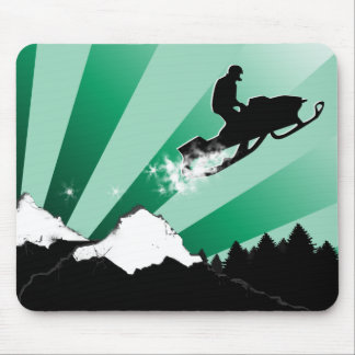 snowmobile. pthalo. mouse pad