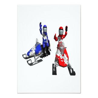 Snowmobile Race 13 Cm X 18 Cm Invitation Card