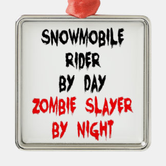 Snowmobile Rider Zombie Slayer Christmas Ornament