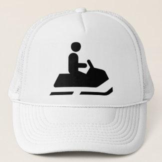 Snowmobile Symbol Hat