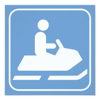 Snowmobile Symbol Invitation