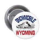 Snowmobile Wyoming Pin
