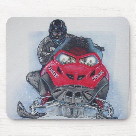 Snowmobiler Mousepad