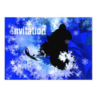 Snowmobiling in an Avalanche 13 Cm X 18 Cm Invitation Card
