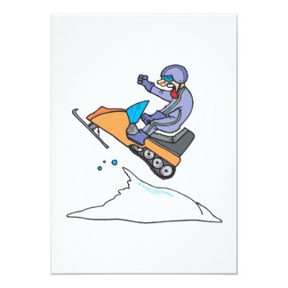 Snowmobiling Jump 13 Cm X 18 Cm Invitation Card