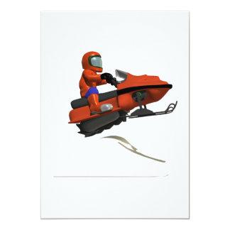 Snowmobiling Jump 2 13 Cm X 18 Cm Invitation Card
