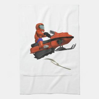 Snowmobiling Jump 2 Tea Towel