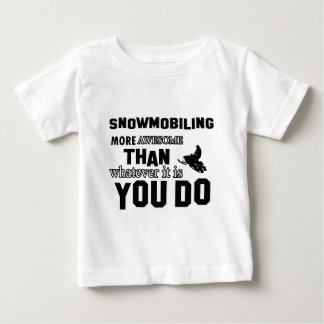 snowmobiling  more awesome baby T-Shirt