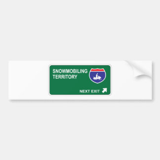 Snowmobiling Next Exit Bumper Stickers