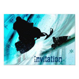 Snowmobiling on Icy Trails 13 Cm X 18 Cm Invitation Card