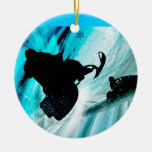 Snowmobiling on Icy Trails Ornament