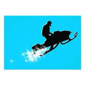 snowmobiling powder trail custom invite