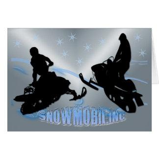 Snowmobiling - Snowmobilers Card