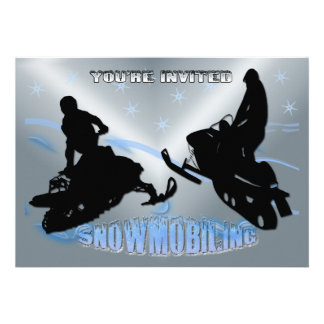 Snowmobiling - Snowmobilers Invitation
