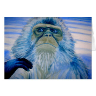 snowmonkey greeting card
