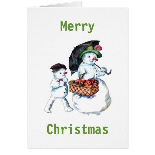 Snowmum & Snowchild Christmas Card