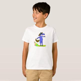 Snowpferd on snowboard Boys T-shirt