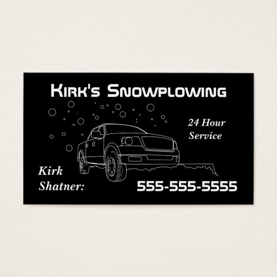 Snowplowing Business Card