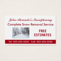 Snow removal business cards business card printing zazzle uk colourmoves Images
