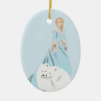 snowqueen christmas ornament
