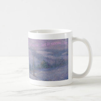 snowscape  impressionist painting classic white coffee mug