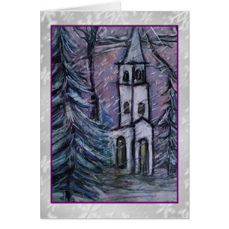 Snowscape Steeple Art Card