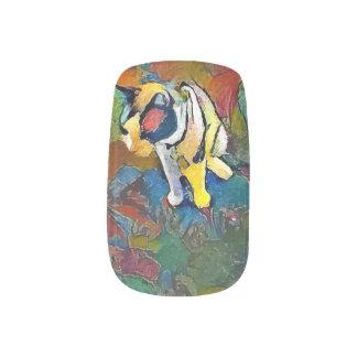 snowshoe abstract kitty minx nail art