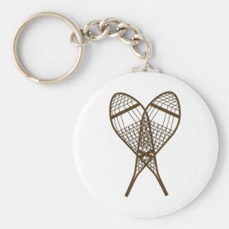 Snowshoe Club Basic Round Button Key Ring