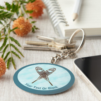 Snowshoes On Snow Key Ring