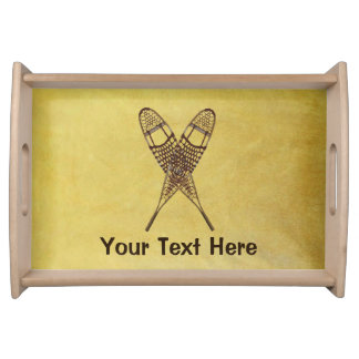 Snowshoes Serving Tray