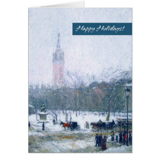 Snowstorm, Madison Square. Christmas Cards