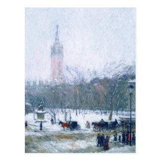Snowstorm, Madison Square. Fine Art Postcards