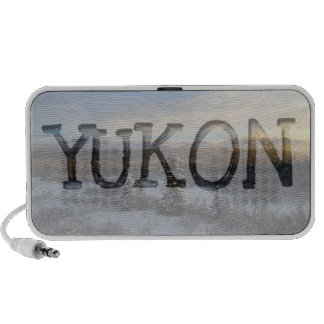 Snowy Afternoon; Yukon Territory Souvenir Notebook Speaker